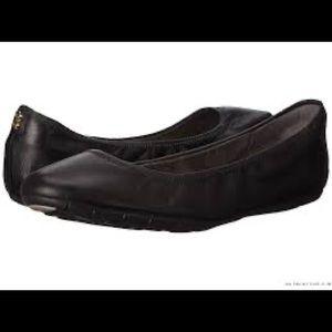 Cole Haan Zerogrand Stagedoor Ballet Flats 6 Black